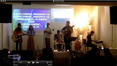 Beck and Anna lead us in deep worship in Romanian
