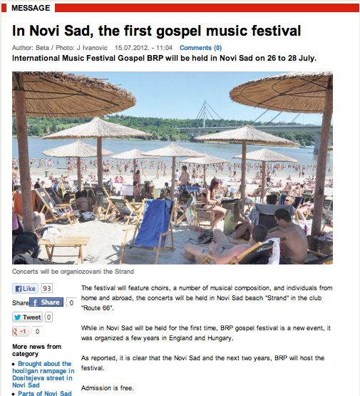 Novi Sad Press, thanks Google Translator!