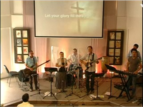 Sunday's worship team with moi @ Vox Domini