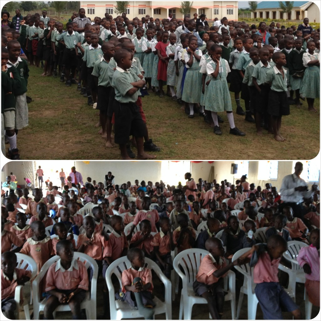 Top - Divine Grace, 800 kids & staff, Bottom - Divine Hope, 300 students & staff