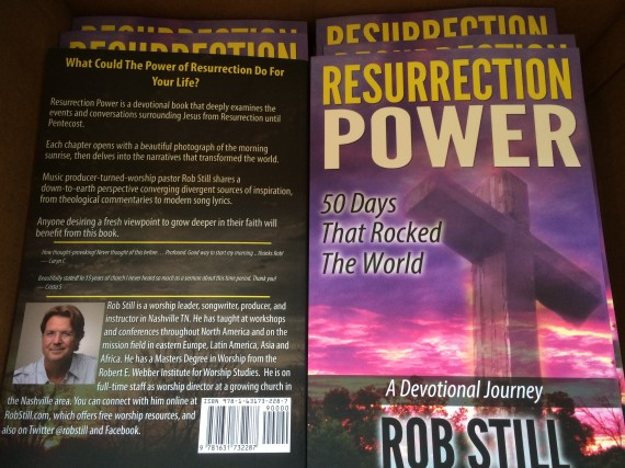 A box full of Resurrection Power books.  Some churches and small groups are ordering in bulk.