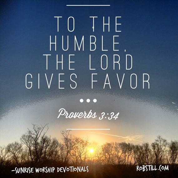 To the humble He gives favor