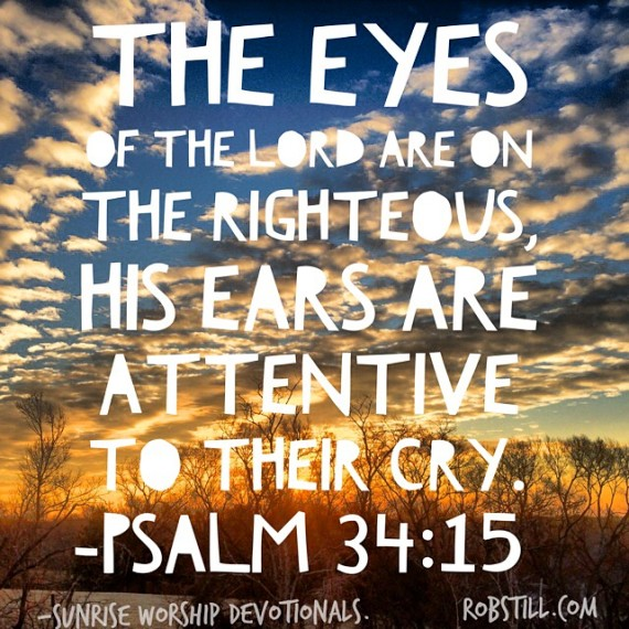 The eyes of the Lord Sunrise 2-13-15
