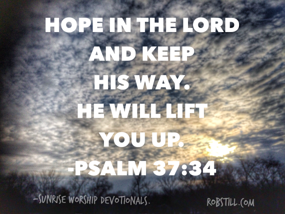 Hope in The Lord Sunrise 2-20-15