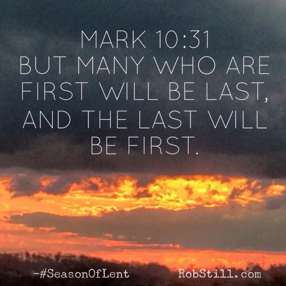 First last Lent 3-1-16