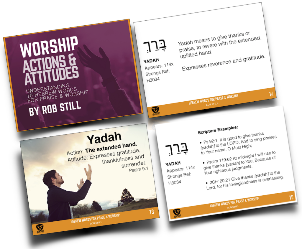 Worship Actions & Attitudes Slideshow Ebook