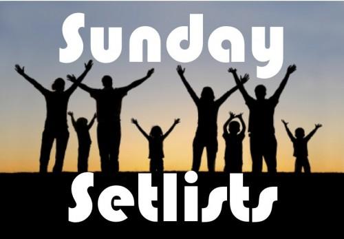 Sunday Setlists 2012
