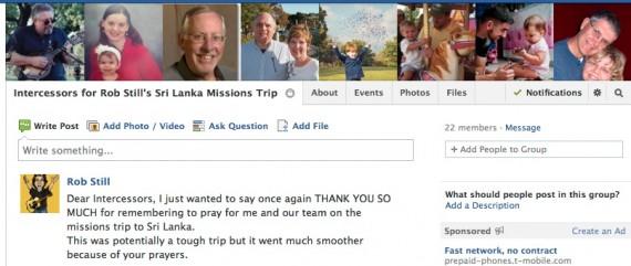 Intercessors: A Secret Facebook Group