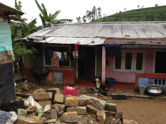 Typical Tea Estate home is a section of long barrck