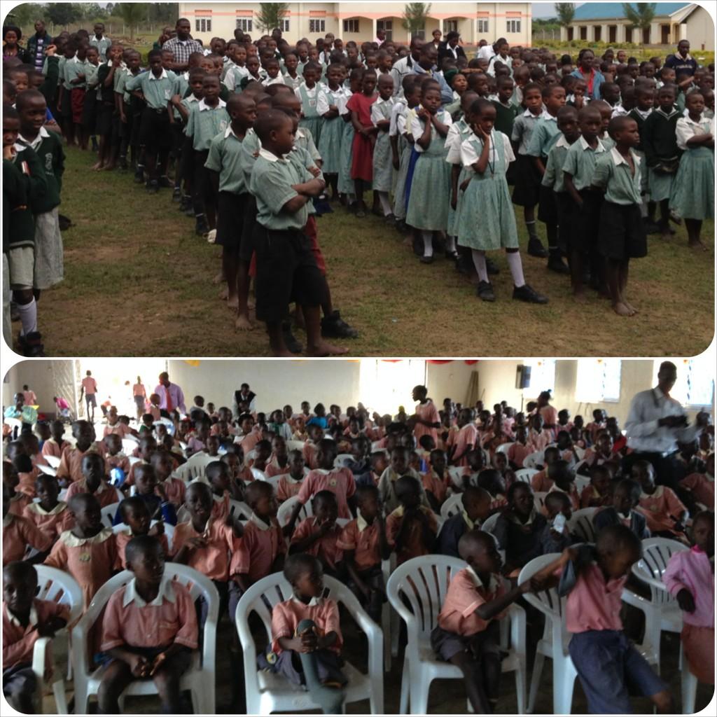 Top - Divine Grace, 800 kids & staff, Bottom - Divine Hope, 300 students & staff