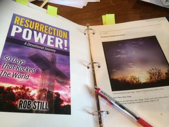 "Editing the manuscript for ""Resurrection Power"""