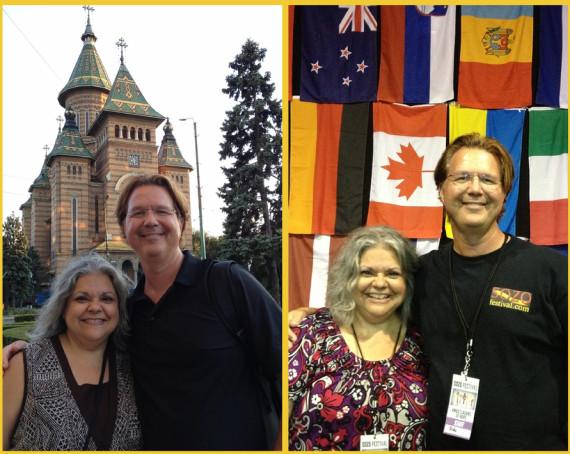 Serving in Missions together in 2013. Left: Timisoara, Romania. RIght: SOZO Festival, Novi Sad Serbia