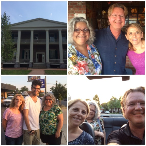 With Cristina Boier: from top left - The Hermitage, Martins BarBQue, dinner with our son John on 12th Ave, convertible ride.