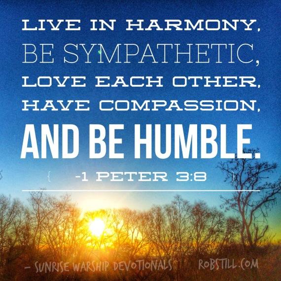 Sunrise 1 Peter 3:8
