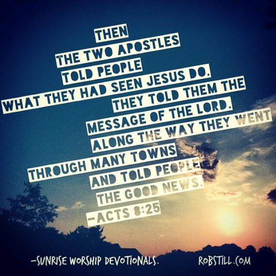 6-12-15 Acts 8 Evangelism Sunrise